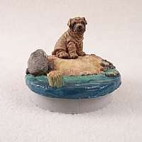 Shar Pei Brown Candle Topper Tiny One