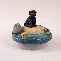 Shar Pei Black Candle Topper Tiny One