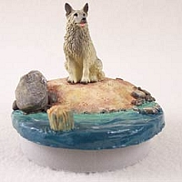 Norwegian Elkhound Candle Topper Tiny One