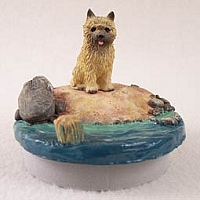 Cairn Terrier Red Candle Topper Tiny One