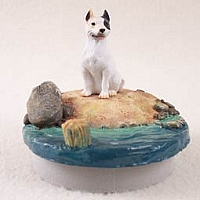 Pit Bull Terrier White Candle Topper Tiny One