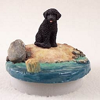 Portuguese Water Dog Candle Topper Tiny One