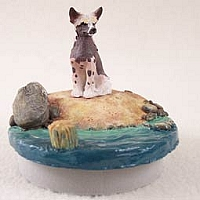 Chinese Crested Dog Candle Topper Tiny One