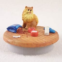 Pomeranian Red Candle Topper Tiny One