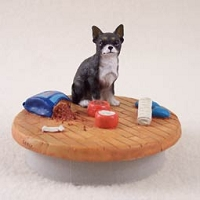 Chihuahua Black & White Candle Topper Tiny One