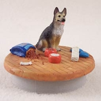 German Shepherd Tan & Black Candle Topper Tiny One