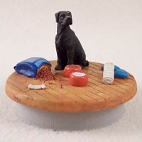 Great Dane Black w/Uncropped Ears Candle Topper Tiny One