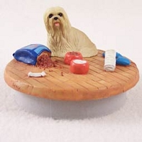 Lhasa Apso Blonde Candle Topper Tiny One