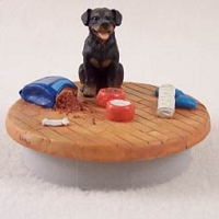 Rottweiler Candle Topper Tiny One