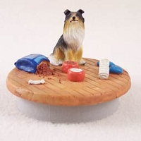 Collie Tricolor Candle Topper Tiny One