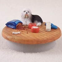Old English Sheepdog Candle Topper Tiny One