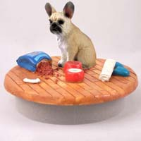 French Bulldog Fawn Candle Topper Tiny One
