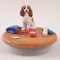 Cavalier King Charles Spaniel Brown & White Candle Topper Tiny One