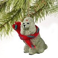 Poodle Gray Original Ornament
