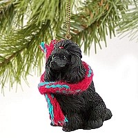 Poodle Black Original Ornament