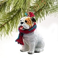 Bulldog White Original Ornament