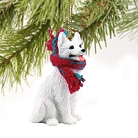 German Shepherd White Original Ornament