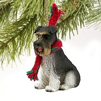 Schnauzer Gray w/Uncropped Ears Original Ornament