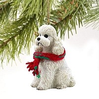 Poodle White w/Sport Cut Original Ornament