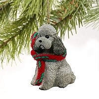 Poodle Gray w/Sport Cut Original Ornament