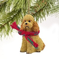 Poodle Apricot w/Sport Cut Original Ornament