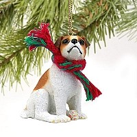 Jack Russell Terrier Brown & White w/Smooth Coat Original Ornament