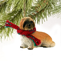 Lhasa Apso Brown w/Sport Cut Original Ornament