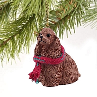 Cocker Spaniel Brown Original Ornament