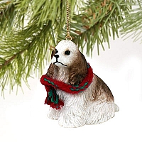 Cocker Spaniel Brown & White Original Ornament