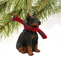 Doberman Pinscher Red w/Cropped Original Ornament