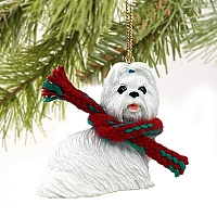 Shih Tzu White Original Ornament
