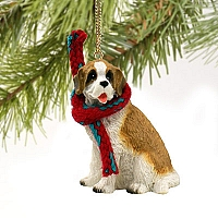 Saint Bernard w/Rough Coat Original Ornament