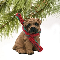 Shar Pei Brown Original Ornament
