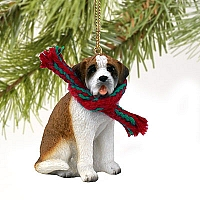 Saint Bernard w/Smooth Coat Original Ornament