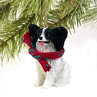 Papillon Black & White Original Ornament