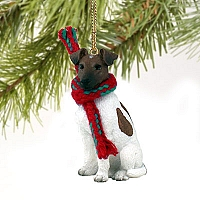 Fox Terrier Brown & White Original Ornament