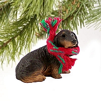 Dachshund Longhaired Black Original Ornament