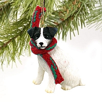 Jack Russell Terrier Black & White w/Rough Coat Original Ornament