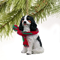Cavalier King Charles Spaniel Black & White Original Ornament