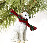 Whippet White Original Ornament