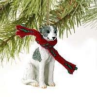 Whippet Gray & White Original Ornament
