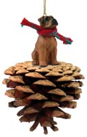Boxer Tawny w/Uncropped Ears Pinecone Pet Ornament