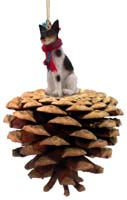 Rat Terrier Pinecone Pet Ornament
