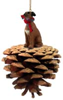 Italian Greyhound Pinecone Pet Ornament