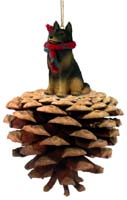 Belgian Tervuren Pinecone Pet Ornament
