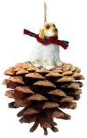 Clumber Spaniel Pinecone Pet Ornament