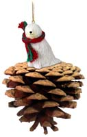 Komondor Pinecone Pet Ornament