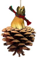 Briard Pinecone Pet Ornament