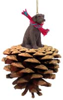 Labrador Retriever Chocolate Pinecone Pet Ornament