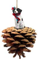 Brittany Liver & White Spaniel Pinecone Pet Ornament
